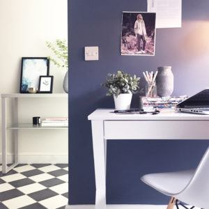 Trestle Desk and Fern Console Instagram Shot