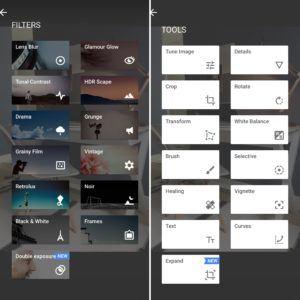 snapseed Editing Tools