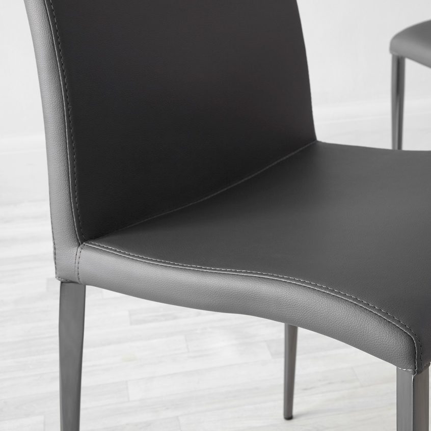 Elise Black Chrome Dining Chair, £109