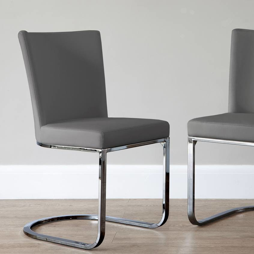 Form Black Chrome Cantilever Dining Chair, £129