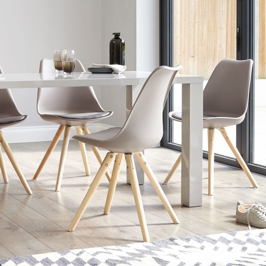Ida Dining Chair in Taupe, £65