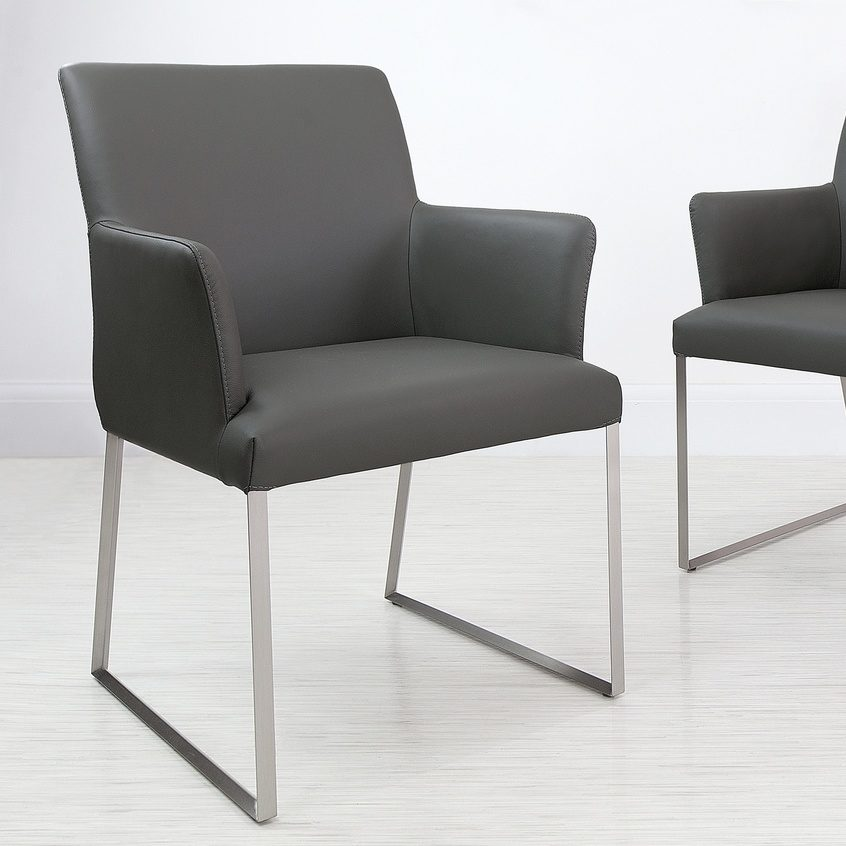 Monti Real Leather Armchair, £219