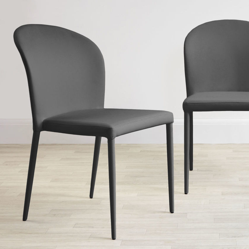 Santo Stackable Faux Leather Dining Chair, £79