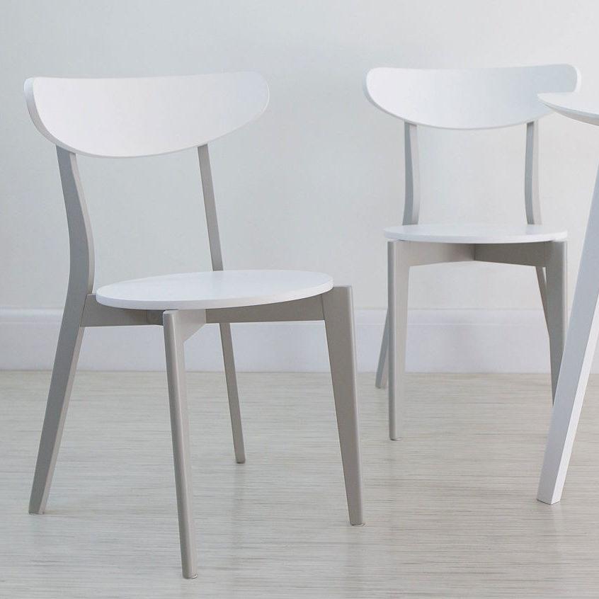 Senn Grey and White Dining Chair, £45