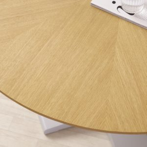 Cleo 4 Seater Oak and Grey Gloss Dining Table