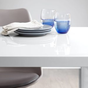 White Gloss Fern dining Table