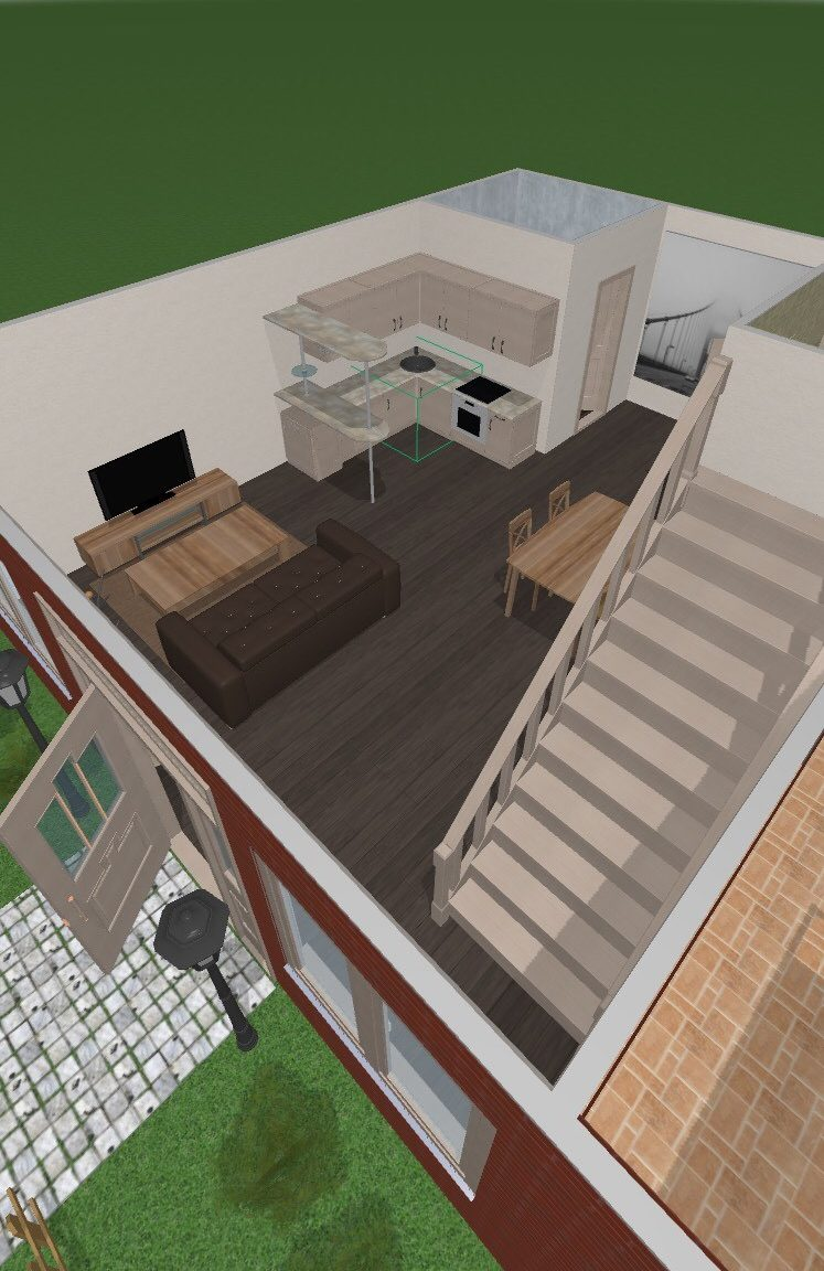 The 3D view is where you can try out different colours and styles of furniture pieces.