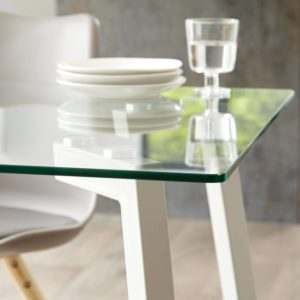 Profile 6 Seater Glass Dining Table