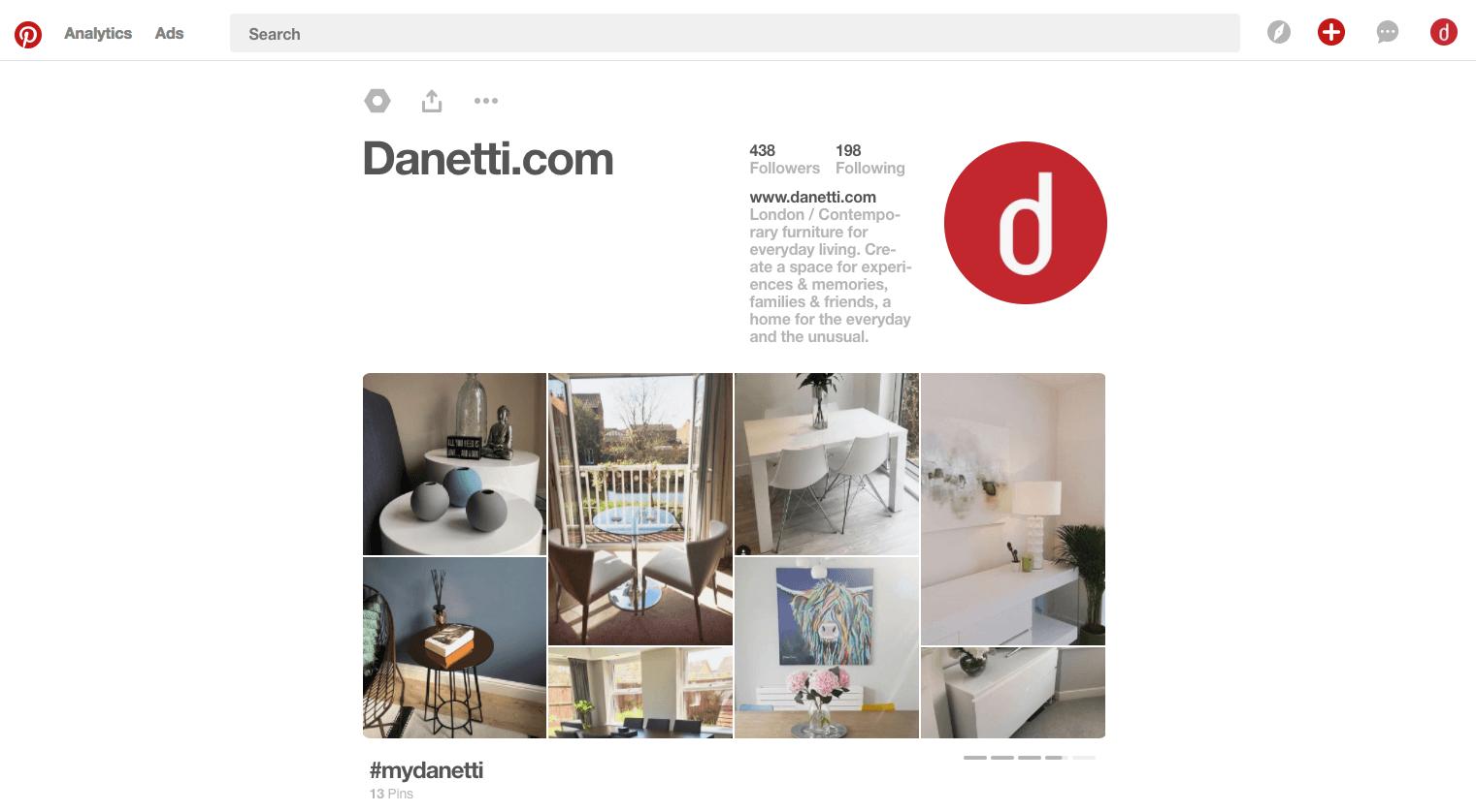 Danetti Pinterest