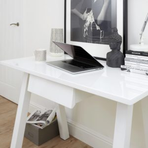 Zen White Gloss Desk