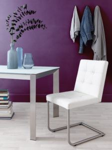 Danni white Leather Dining Chair
