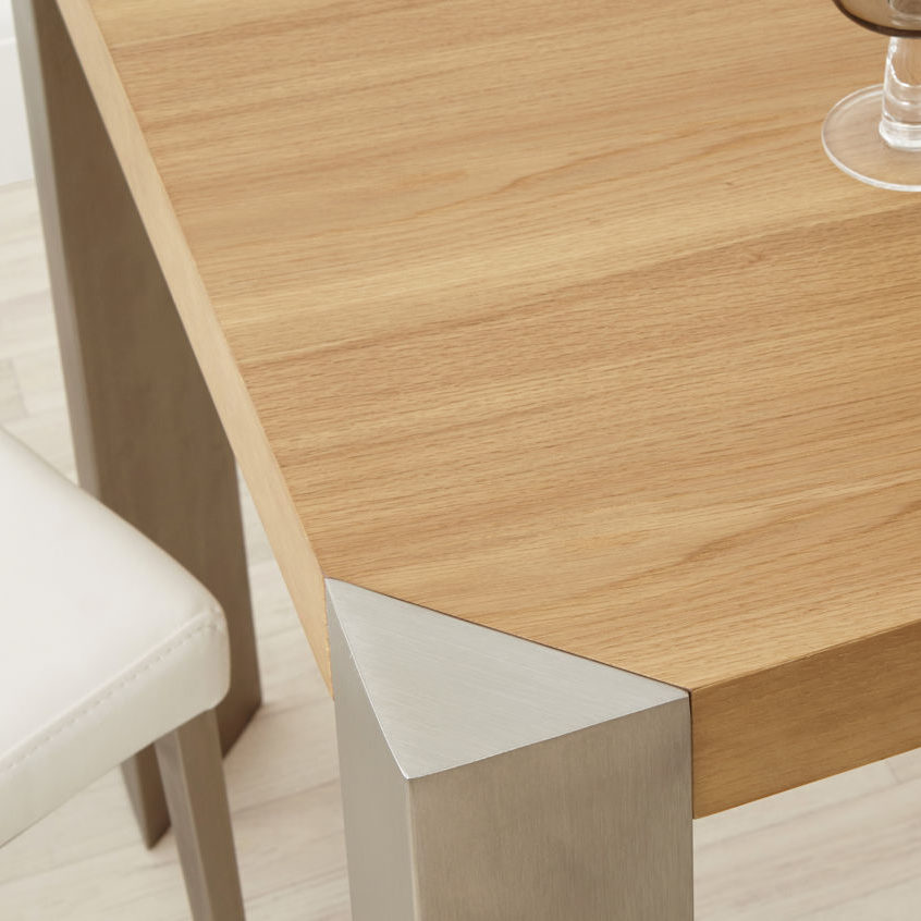 Angola 4 Seater Modern Oak Dining Table