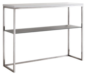 Acute Console Table in White Gloss and Black Chrome