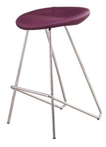 Anzio Fixed Height Barstool in Mulberry Purple