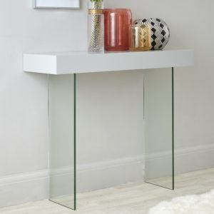 Calanna Console Table in Grey Oak