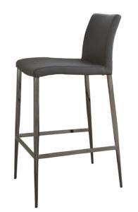 Elise Black Chrome Fixed Height Bar Stool in Black