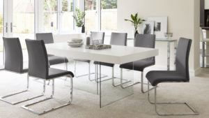 Aria White Oak 6 Seater Dining Table