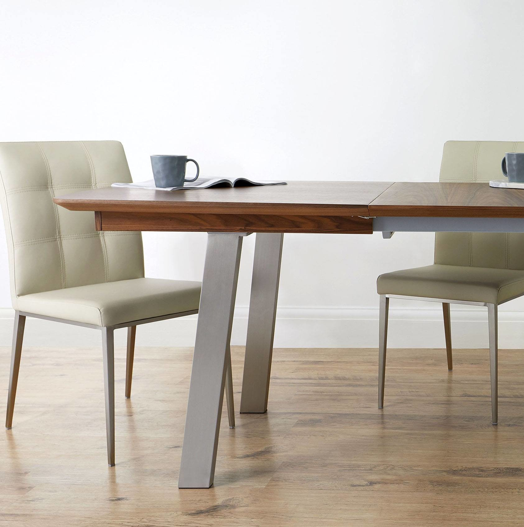 Assi Walnut and Moda Extending Dining Set