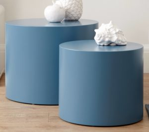 Pebble Side Tables in Powder Blue