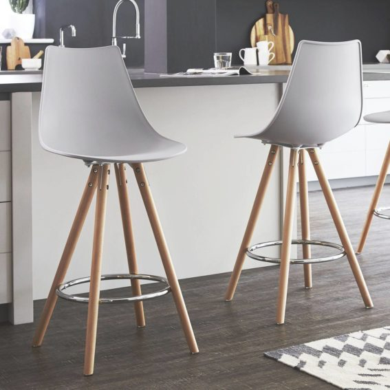 Finn Bar Stool in Cool Grey