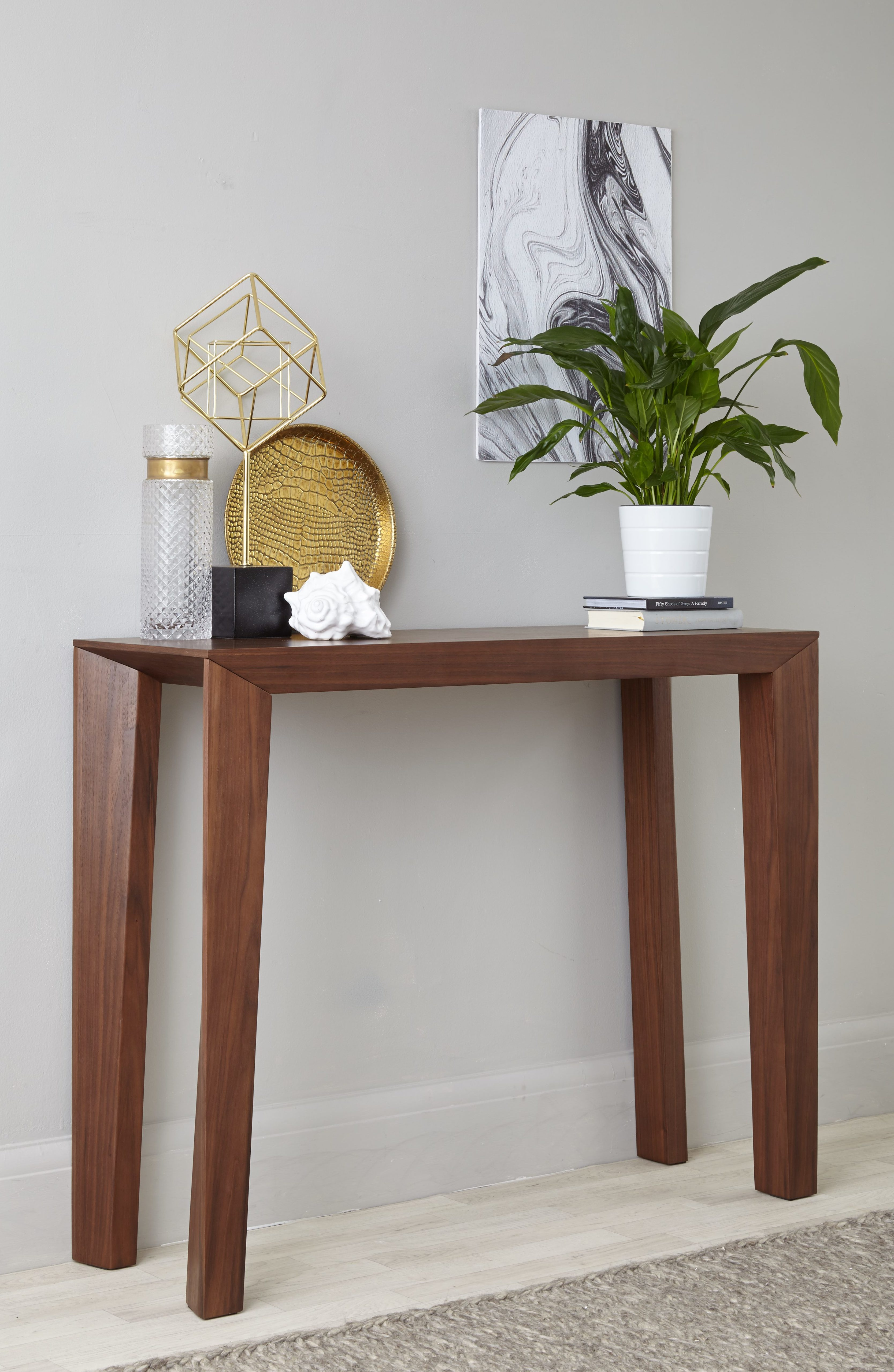 Salerno Walnut Console Table