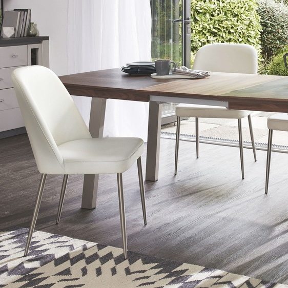 Assi Walnut Extending and Deco Dining Set