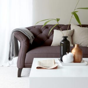 Luxe Leather Sofa in Heather