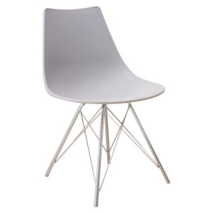 Stylo Plastic Dining Chair in Cool Grey