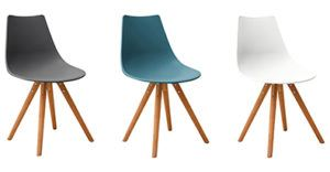 Finn Dining Chairs - Slate Grey, Teal, White