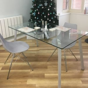 Profile 4 Seater Glass dining Table
