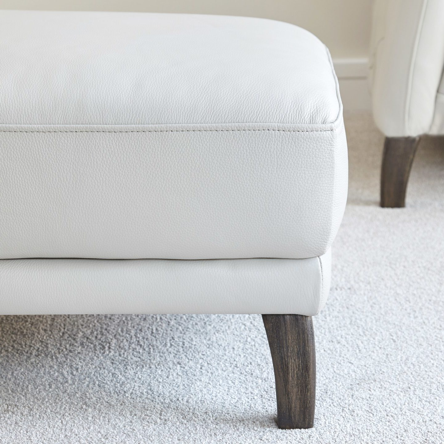 Luxe Modern Leather Ottoman
