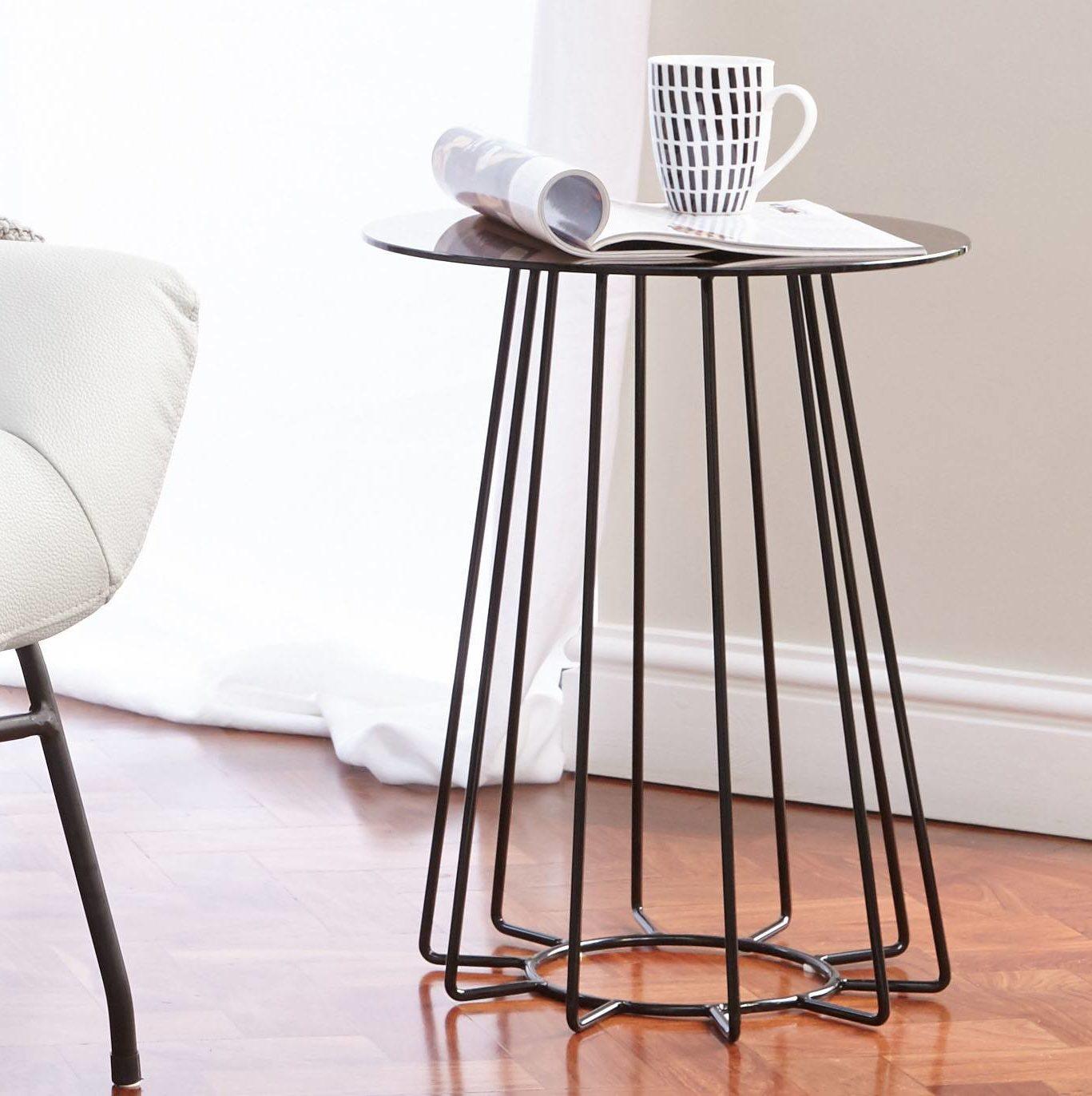 Orbit Bronze Glass Lamp Table