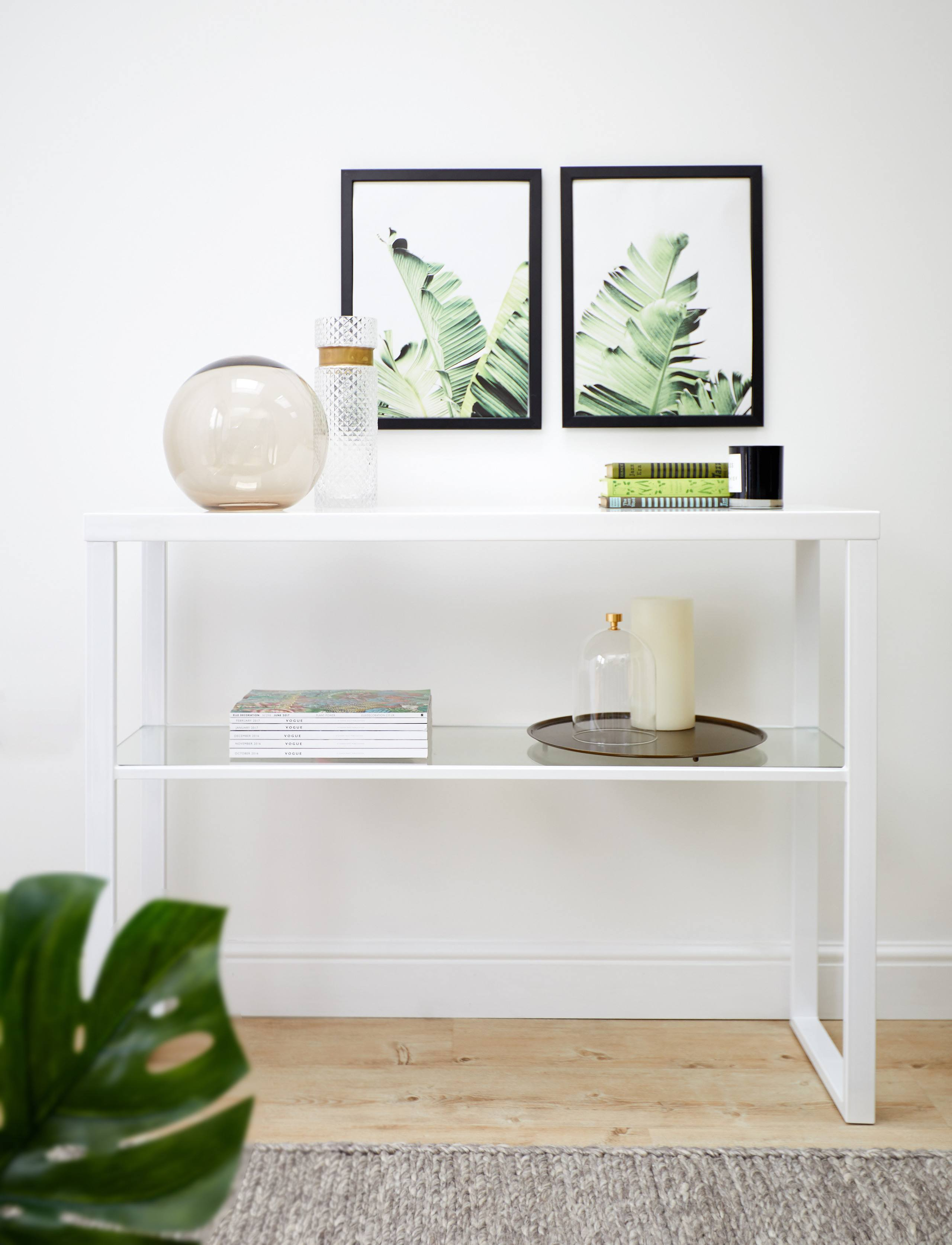 Fern White Gloss Console Table