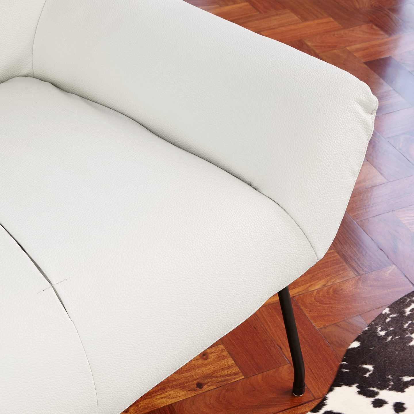 Serin Leather Occasional Armchair