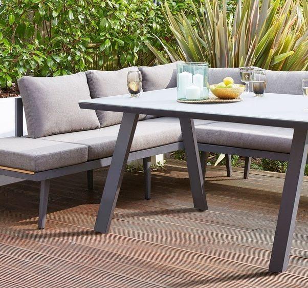 Fresco Grey 6 Seater Trestle Garden Table