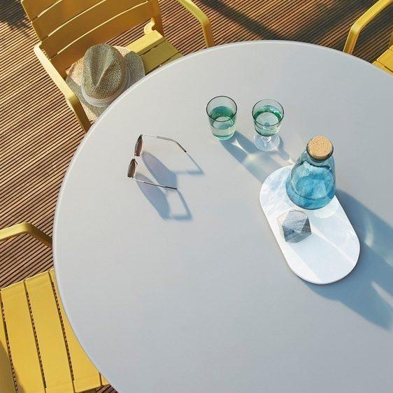 Koko Grey Round 4 Seater Garden Dining Table