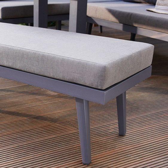 Palermo Grey 2 Seater Garden Bench