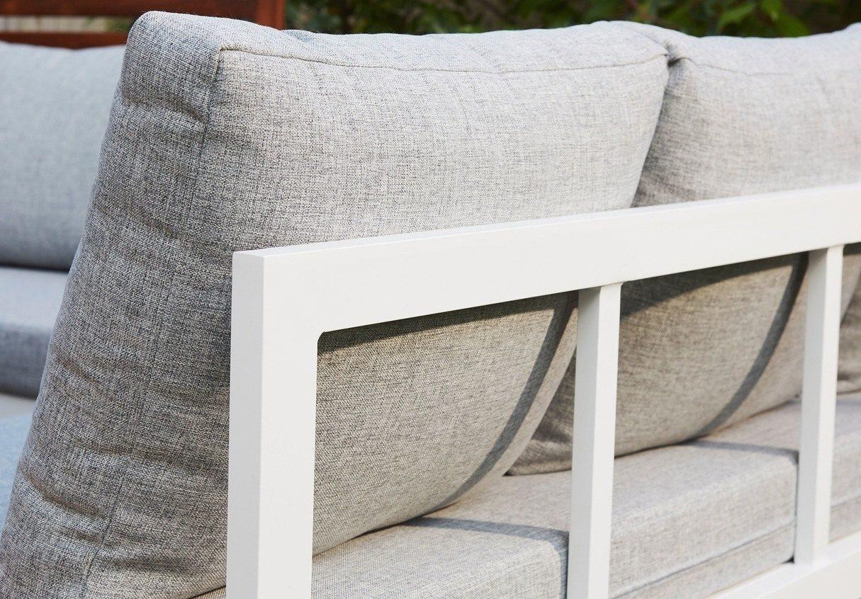 Palermo White Left Hand Corner Garden Dining Bench