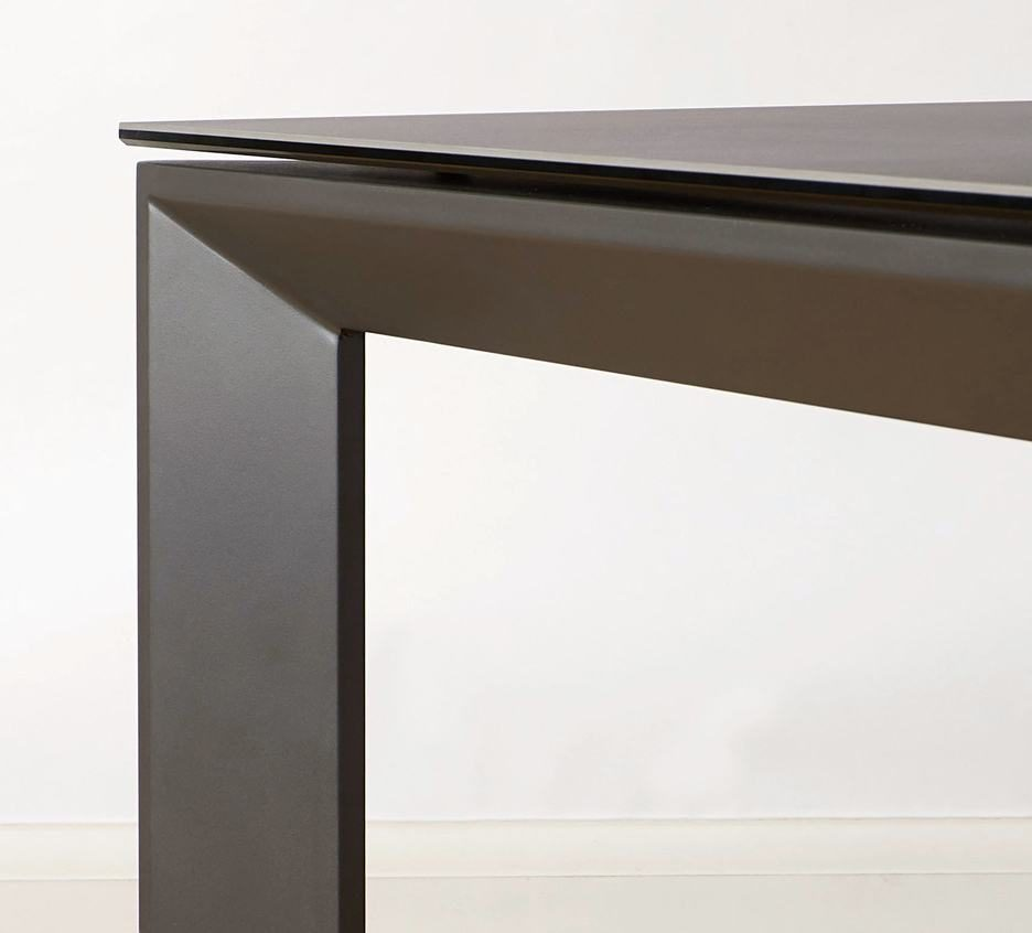 Louis Dark Grey Ceramic Extending Dining Table