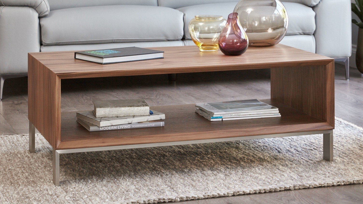 Halo Walnut Coffee Table