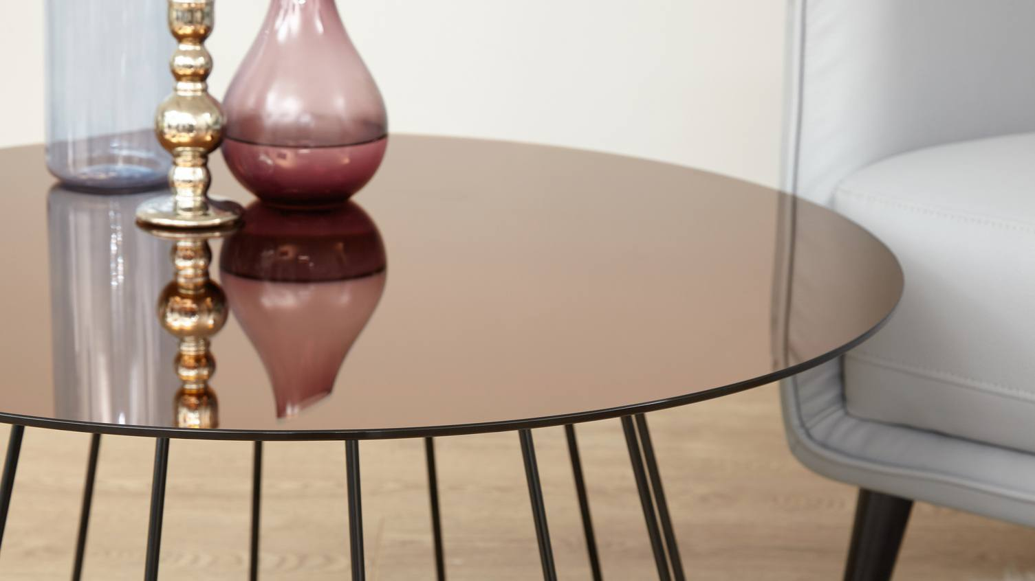Orbit Bronze Glass Coffee table