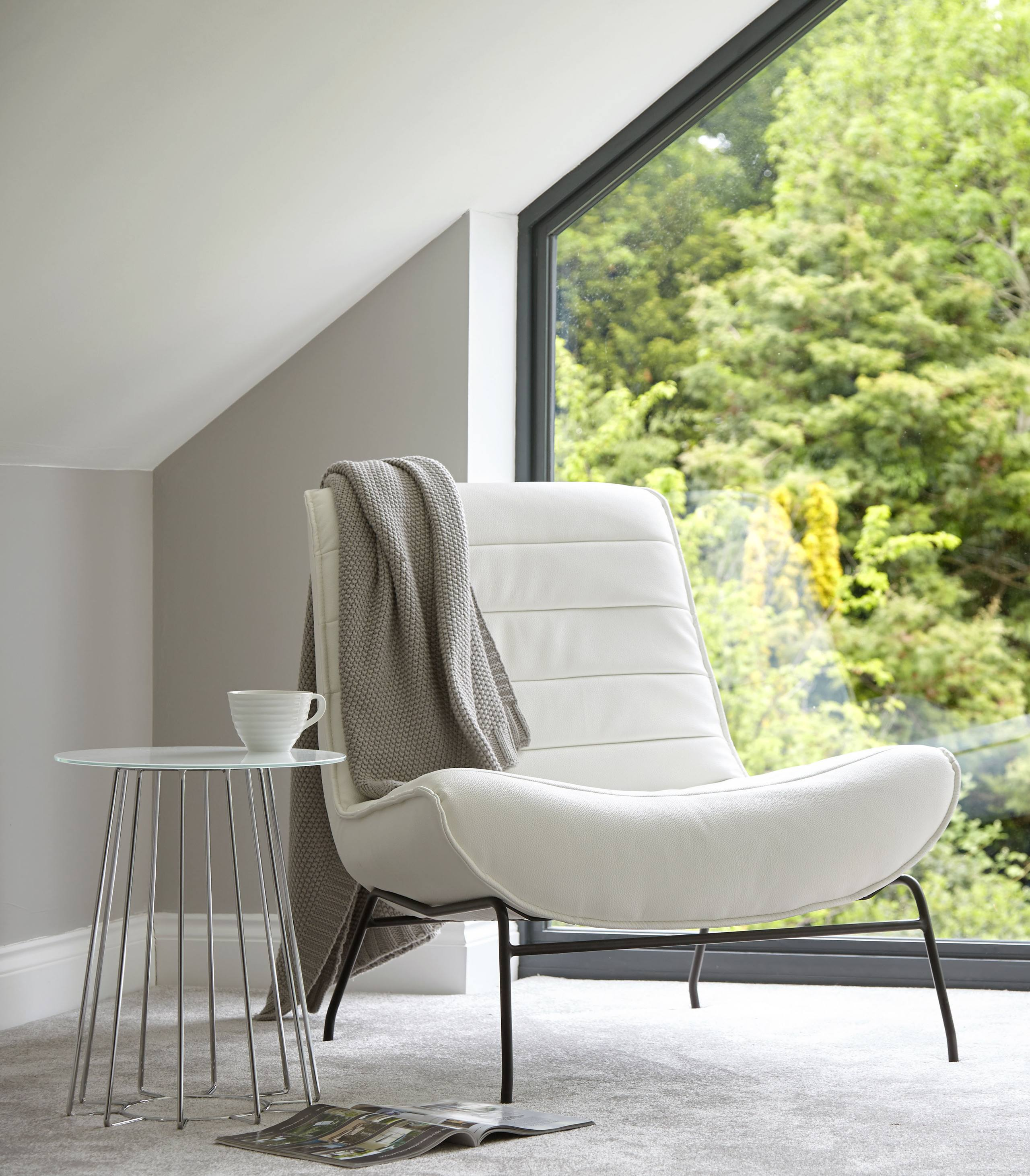 Drift Leather Occasional Armchair
