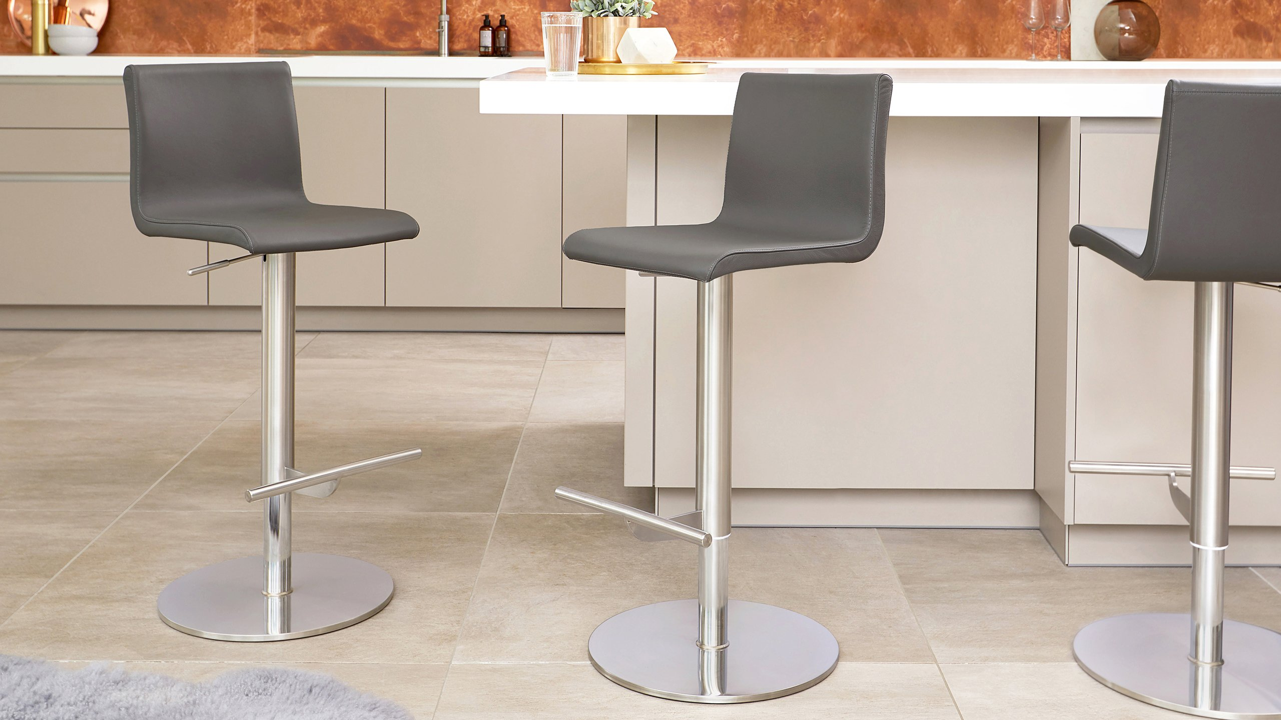 NEW Real Leather Bar Stools for Modern Kitchens
