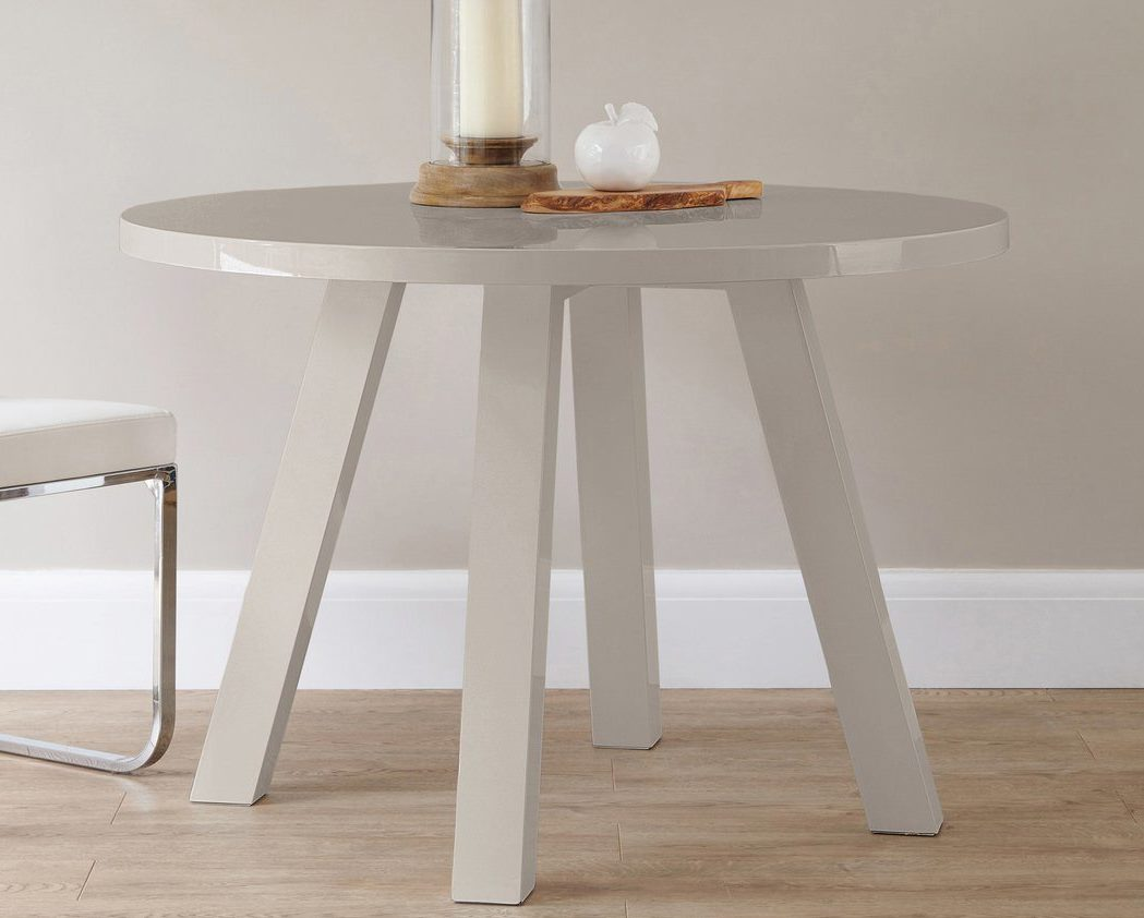 Arc 4 Seater Grey Gloss Dining Table