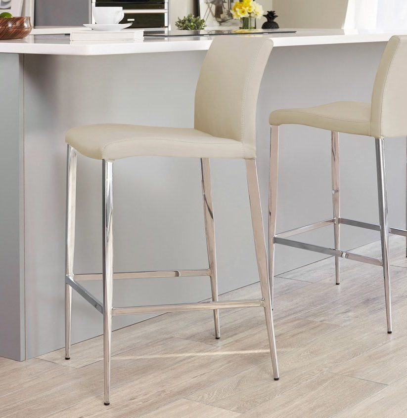 Elise Bar Stool Latte Beige from Danetti