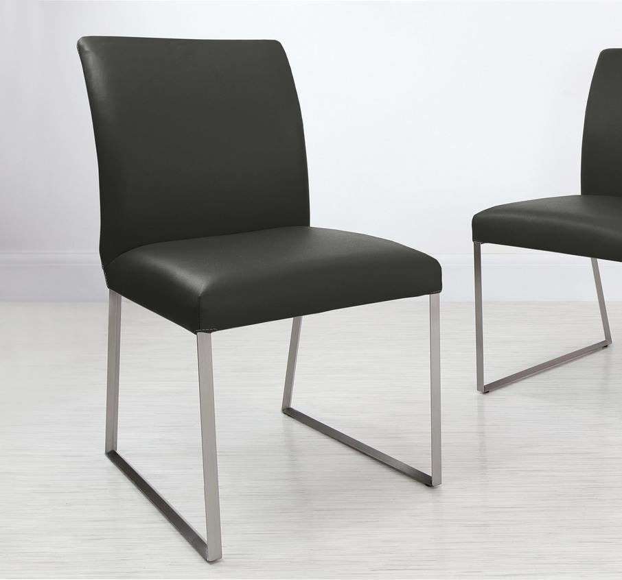 Monti Real Leather Dining Chair in Black