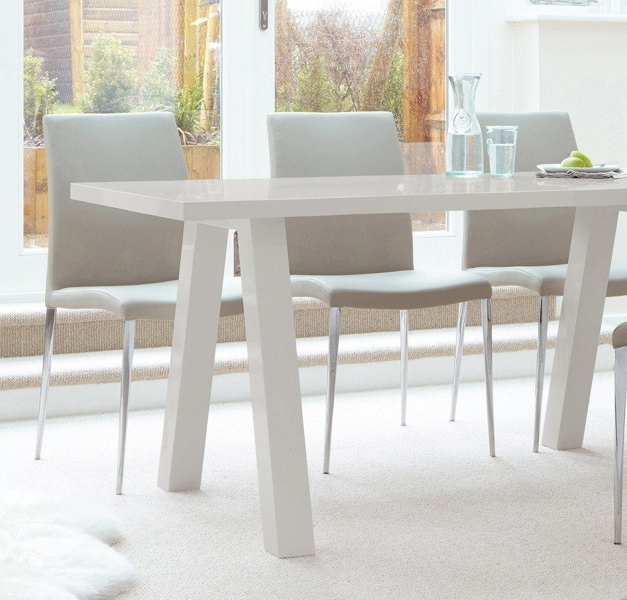 Zen 6 Seater Grey Gloss Dining Table