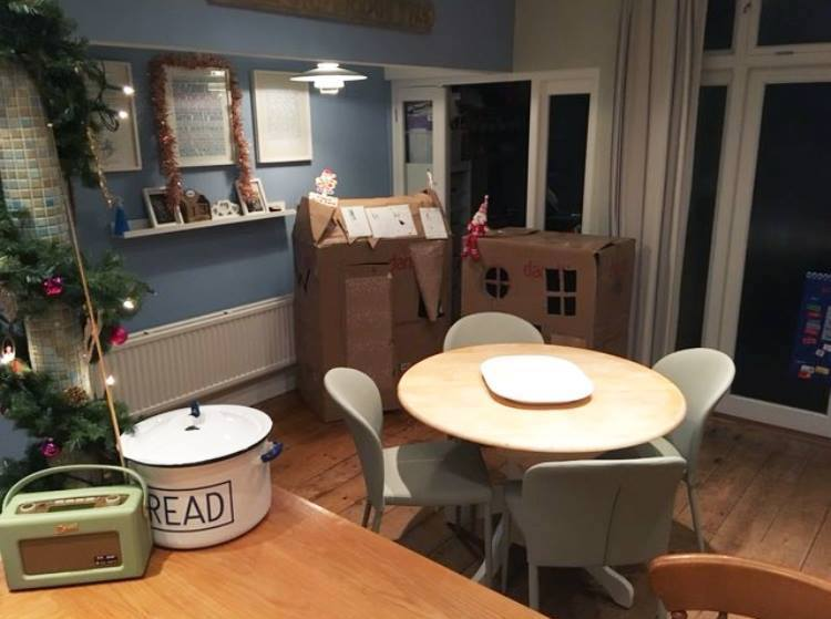 Hayley's Cleo and Santo Dining Set looks fab in her family home... We love the boxes turned into houses for the kids too!