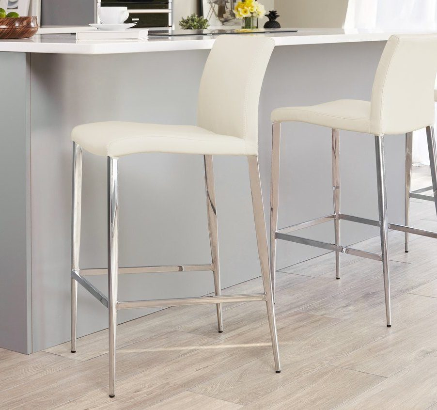 Elise Bar Stool in Cream