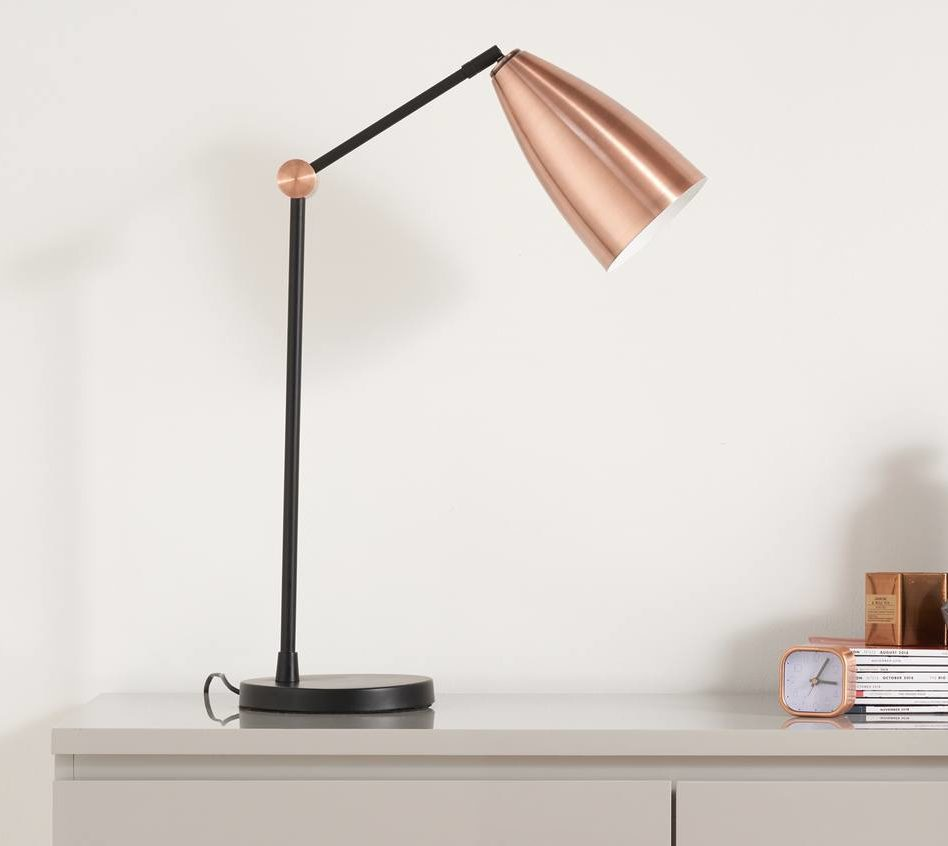Flo Black and Copper Table Lamp